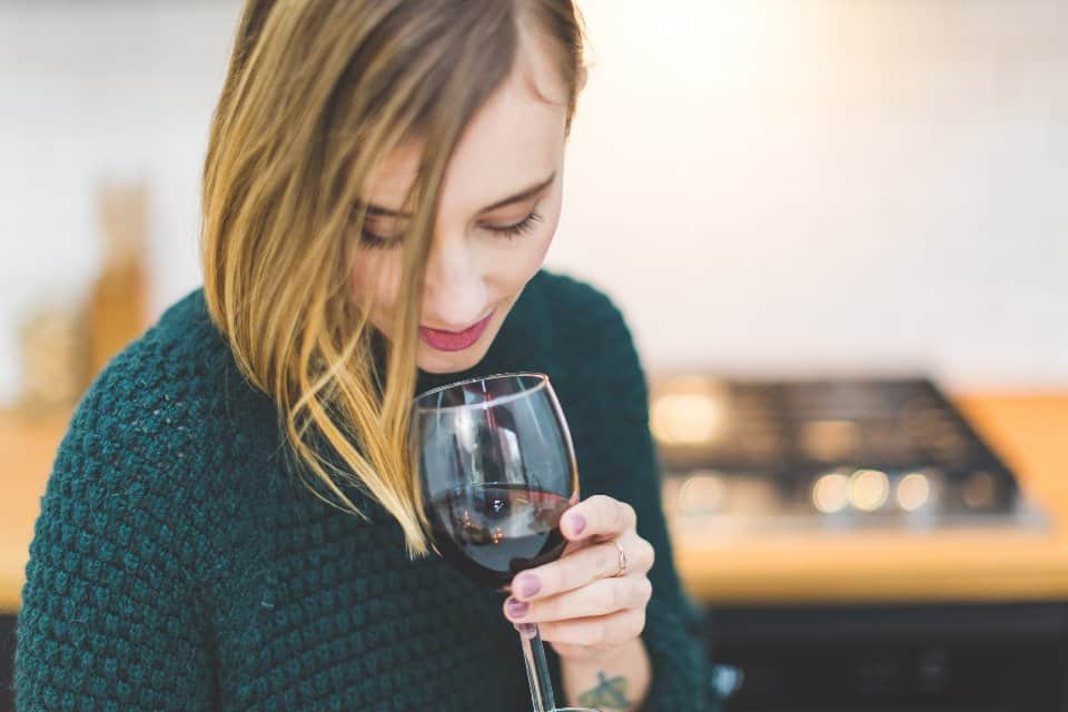 She loves wine more than beer?